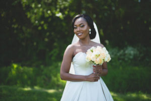 Bride holding her Rose Bouquet
