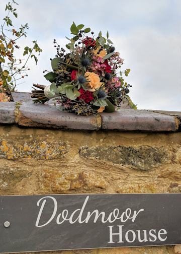 Flower Bouquet on Wall at Dodmoor House