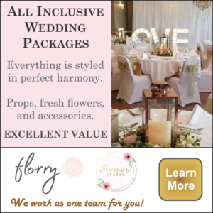 Wedding Flower Packages, everything is styled in harmony: props, fresh flowers and accessories.