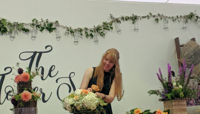 Claire Demonstrating at RHS Tatton Flower Show 2019