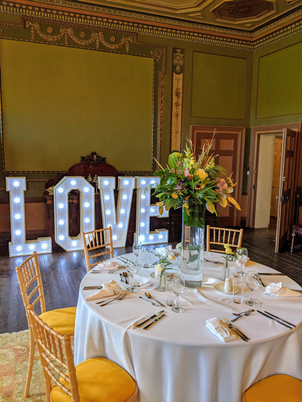 Wedding Light Up Love Letters.