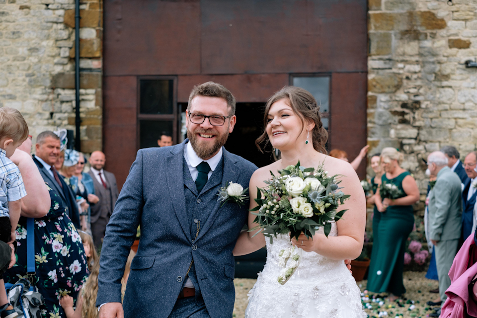 Bride and Groom at Slapton Manor
