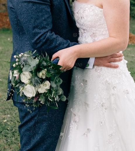Natural bridal bouquet.