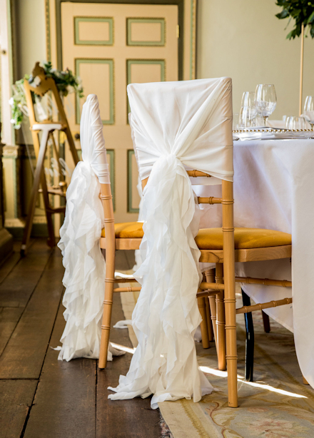 Chiavari chair with cover.