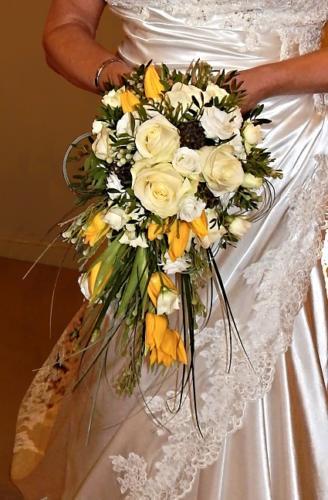 Spring Trailing Wedding Bouquet