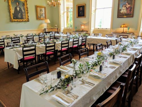 Foliage Table Runners for Wedding Breakfast